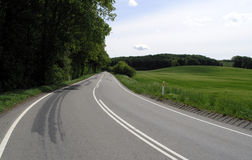 Highway with devider Stock Photos