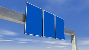 Highway direction sign Stock Image
