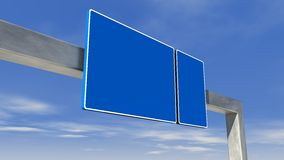 Highway direction sign Royalty Free Stock Photos