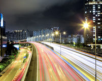 Highway in downtown Stock Image