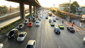 Highway driving busy traffic stock footage