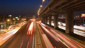 motorway driving time lapse stock video