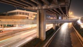 motorway traffic time lapse stock footage