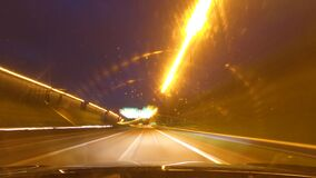 Highway Driving at Night and rainy Time lapse