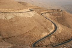 Highway du Roi en Jordanie Photographie stock