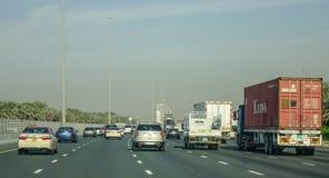 Highway in Dubai, UAE stock images