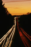 Highway at dusk Stock Photography