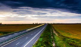 Highway at Dusk Stock Image
