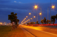 Highway at dusk, Thailand. Stock Photography