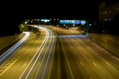 Highway E4 at night. Stockholm, Sweden Stock Photos