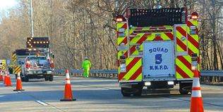 Highway Emergency First Responders Royalty Free Stock Photography