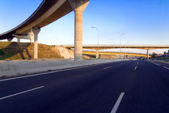 Highway empty. In madrid, spain, europe Royalty Free Stock Photos