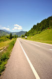 Empty road in the mountains Stock Photo