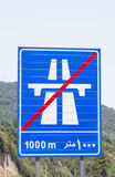 Highway end sign iran. Near a forest Royalty Free Stock Photo