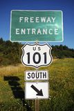 Highway 101 Entrance Royalty Free Stock Images