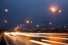 Highway at evening Royalty Free Stock Photos