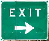 Highway Exit Sign Royalty Free Stock Image