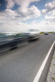 Highway with a fast car Stock Image
