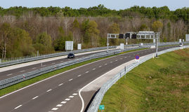 Highway. With few cars on road Royalty Free Stock Photos
