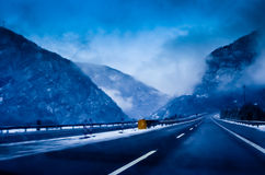 Highway Fog Royalty Free Stock Image