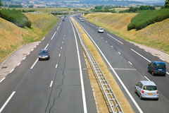 Highway in France Royalty Free Stock Images