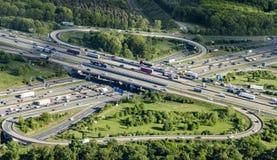 Highway A3 Frankfurt Cross Stock Photography