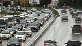 Highway, Freeway, Car Traffic. Stock Image