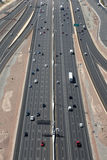 Highway or Freeway in the US from above Stock Photos
