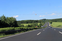 Highway in Germany Stock Photos