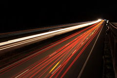 Highway in Germany at night and darkness Stock Photo