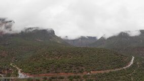 Highway going through Oak Creek Canyon in Arizona