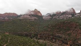 Highway going through Oak Creek Canyon in Sedona Arizona