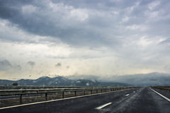 Highway. Going through Romania country royalty free stock photography