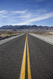 Highway going to Death Valley Stock Photography