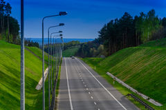 Highway in the gorge Royalty Free Stock Photography