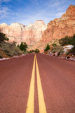 Highway 93 Great Basin HWY Cuts into Nevada Mountain Landscape Stock Image