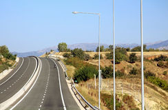 Highway in Greece stock photography