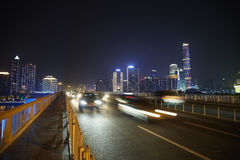 Highway and Guangzhou panorama Royalty Free Stock Photo