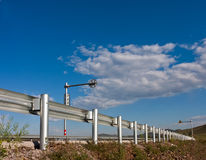 Highway guardrail Stock Images