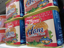 Highway Ham luncheon meat cans Royalty Free Stock Photography