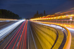 Highway A37 in Hannover at evening Stock Photography