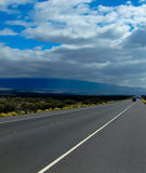 Highway through Hawaiian Lava Fields 2 Royalty Free Stock Images