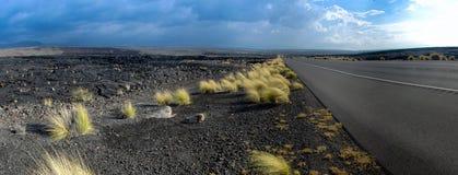 Highway through Hawaiian Lava Fields 5 Royalty Free Stock Image