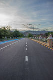Highway heading to Khun Dan Prakan Chon. Thailand. Highway heading to Khun Dan Prakan Chon. Nakhon Nayok, Thailand Stock Image