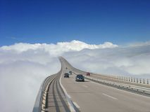 Highway in heaven. A highway in the sky royalty free stock image
