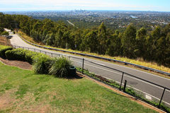 Highway on the hill. Near the Brisbane Royalty Free Stock Photography