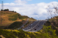 Highway on a Hill Stock Photos