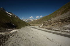 Highway in Himalayas. Highway to Srinagar in Himalayas stock images