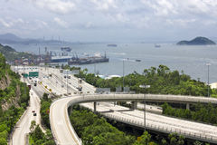 Highway in Hong Kong Royalty Free Stock Images