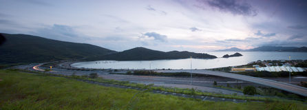 Highway in Hong Kong at sunset Stock Images
